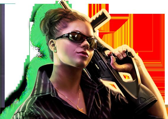 Mafia Wars - Woman with Gun