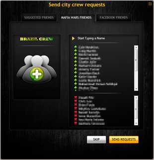 New Crew Request Window