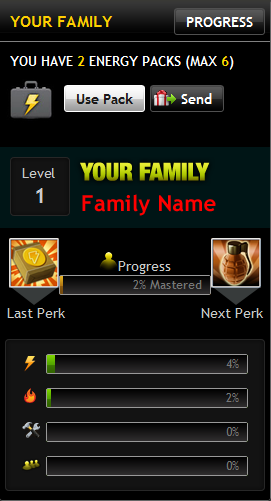 Home Screen - Family Progress