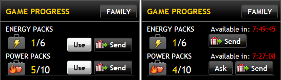 Power Packs on the Home Screen