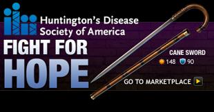 Huntington's Disease Society of America Item: Cane Sword