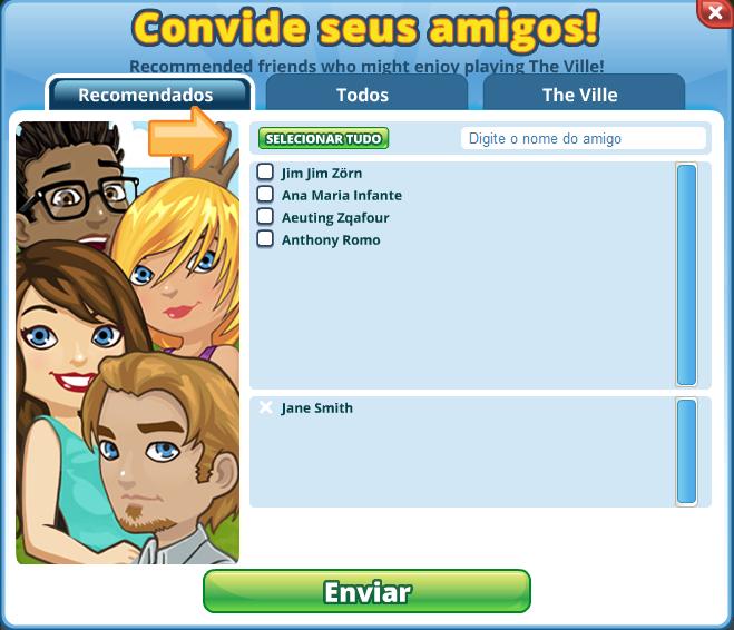Portuguese  Invite Friends Dialog