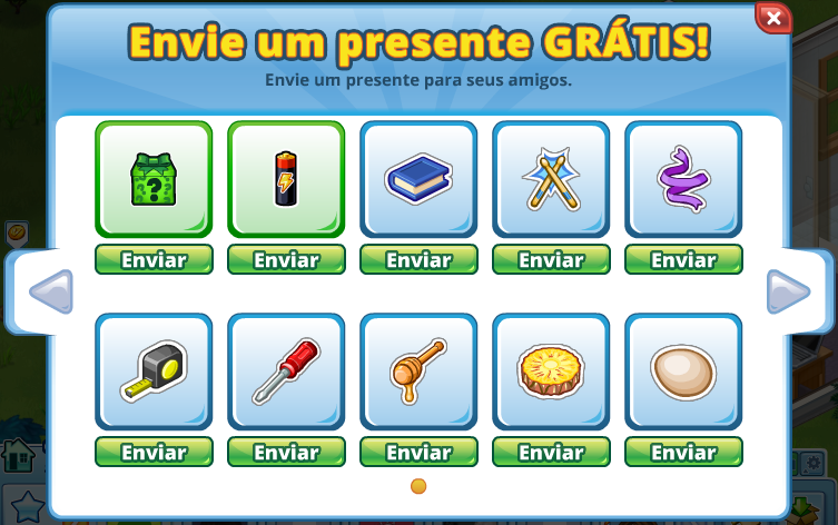 Portuguese  Free Gifts Prompt