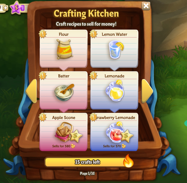 Crafting Menu
