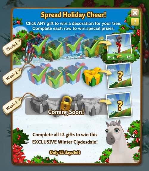 Holiday Tree Quest Menu
