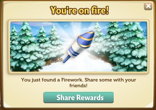 Fireworks Wagon - Share Firework - Farmville 2