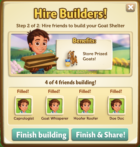 Goat Shelter - Finish Build - FarmVille 2