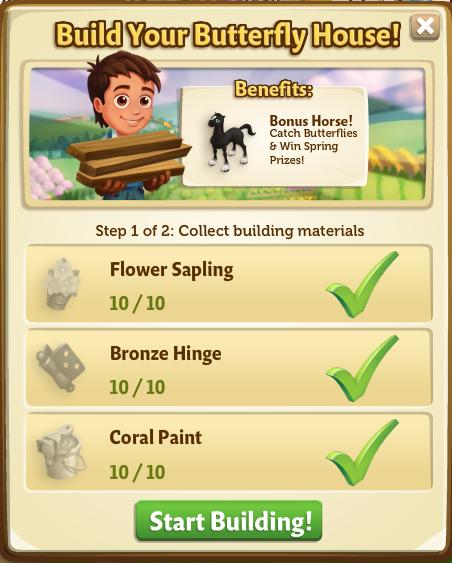 Butterfly Hourse - Start Build