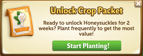 Unlock Crop Packet