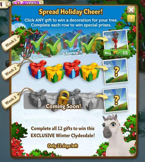 Holiday Tree Quest Menu Week 2