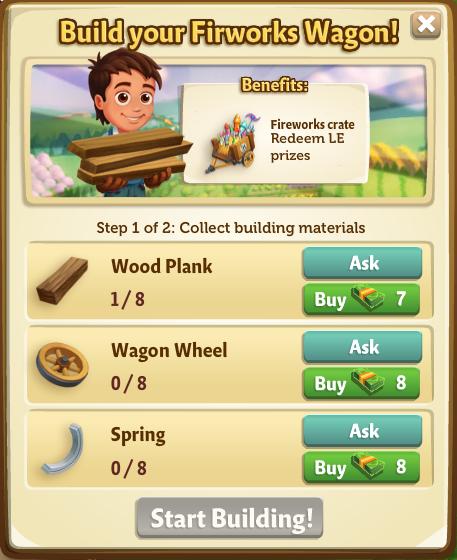 Fireworks Wagon - Build Menu - FarmVille 2