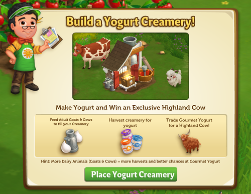 Yogurt Creamery - FarmVille 2