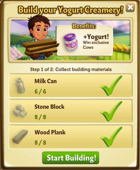 Yogurt Creamery - Build - FarmVille 2