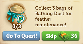 Peacock - Bathing Dust - FarmVille 2