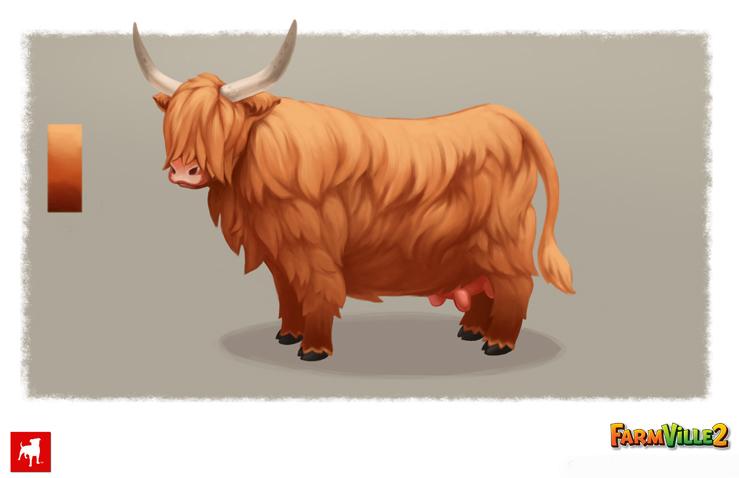 Highland Cow - FarmVille 2