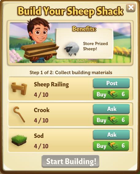 Sheep Shack - Start