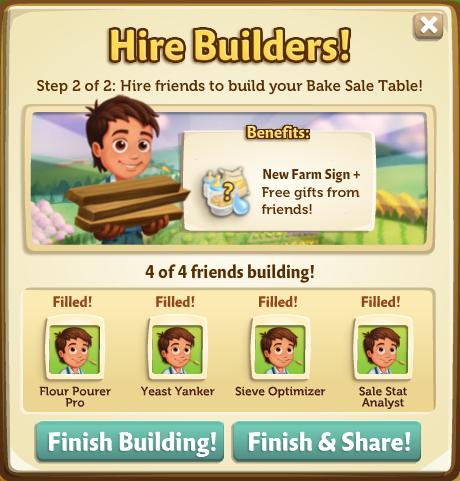 Bake Sale - Finish