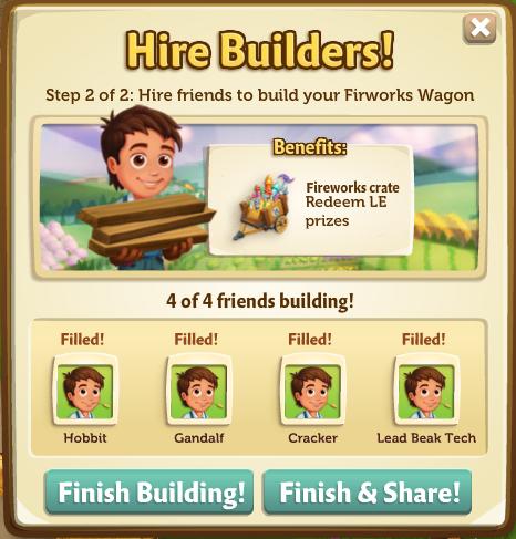Fireworks Wagon - Finish Build - FarmVille 2