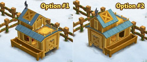 Prized Chicken Coop - Rotate Options - FarmVille 2