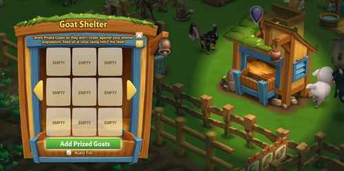 Goat Shelter - Main Menu - FarmVille 2