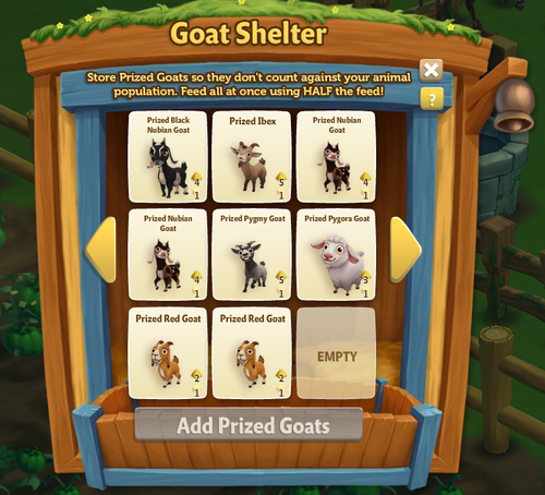 Goat Shelter - Red Goat - FarmVille 2
