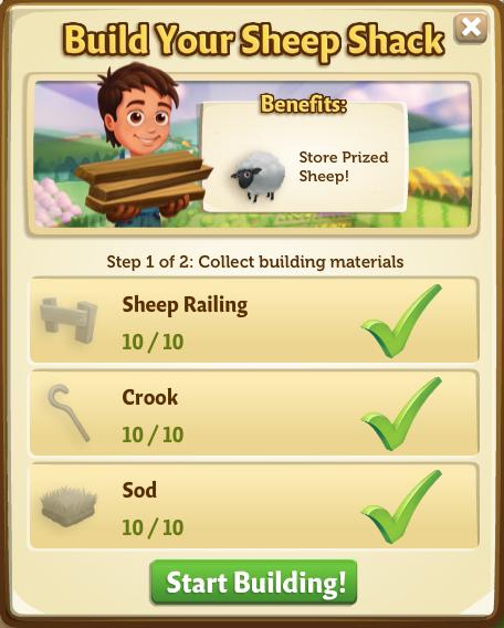 Sheep Shack - Start Build