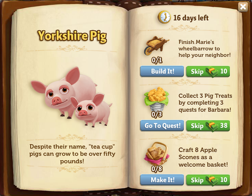 Yorkshire Pig - FarmVille 2