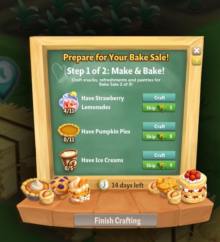 Bake Sale - Prepare