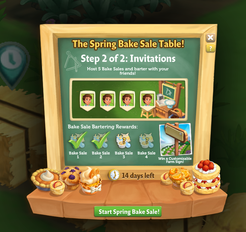 Bake Sale - Start Bake Sale