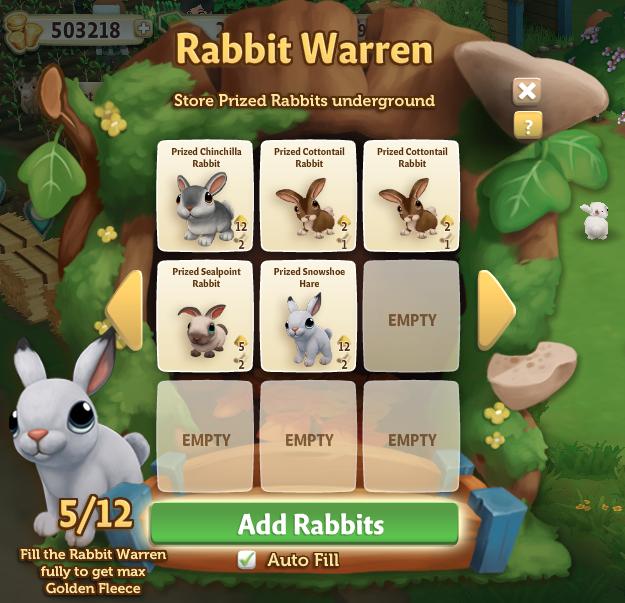 Rabbit Warren - Small Menu