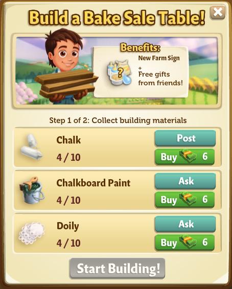 Spring Bake Sale - FarmVille 2