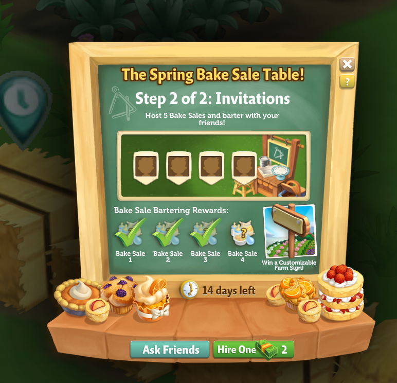 Bake Sale - Green Checkmark
