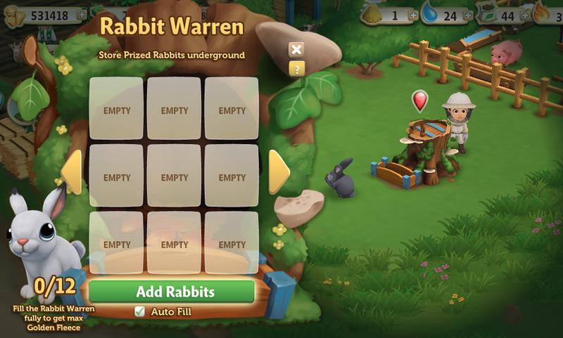 Rabbit Warren - Menu
