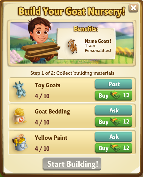Goat Nursery - FarmVille 2