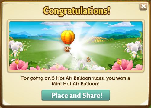 Hot Air Balloon - FarmVille 2