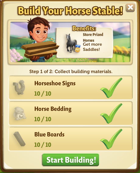 Horse Stable - FarmVille 2