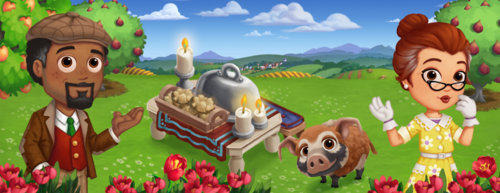 Romantic Outdoor Dinner - FarmVille 2