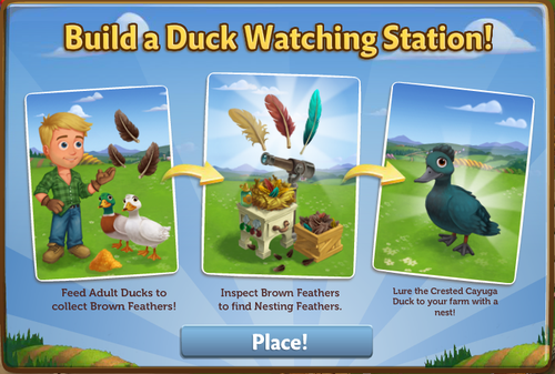 Duck Watching Station - FarmVille 2