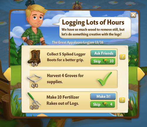 The Great Appaloosa River Logjam - FarmVille 2