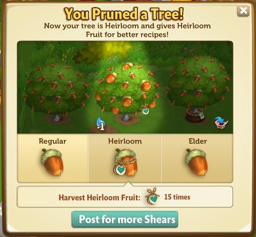 Heirloom Trees - FarmVille 2