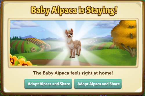 The Homesick Alpaca - FarmVille 2
