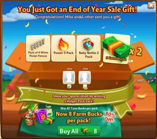 End of Year Sale - FarmVille 2