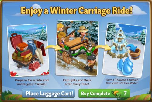 Winter Carriage Ride - FarmVille 2