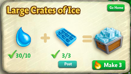Carve Ice Sculptures - FarmVille 2