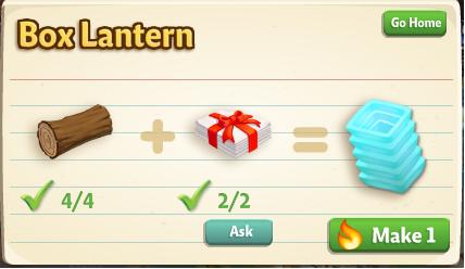 Box Lantern Recipe