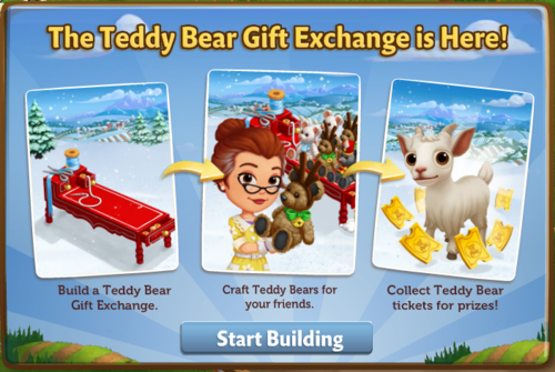Teddy Bear Gift Exchange - FarmVille 2