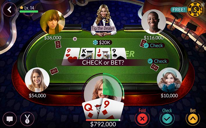 zynga poker cards