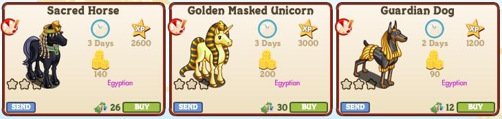 LE Egyptian Animals 2