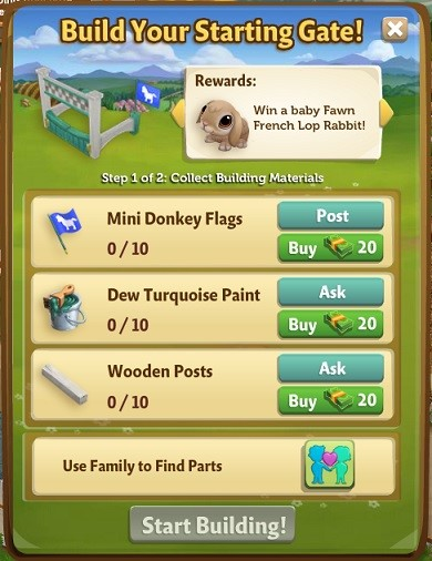 Mini Donkey Race - FarmVille 2