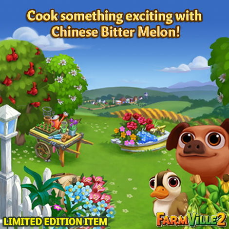 Cook something exciting with Chinese Bitter Melon LE - FarmVille 2